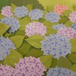 『壁絵☂紫陽花』デイサービス五幸亀七通り